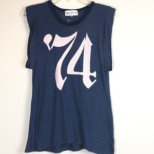 Wildfox Antoinette Dylan Roll Tee Tissue Jersey